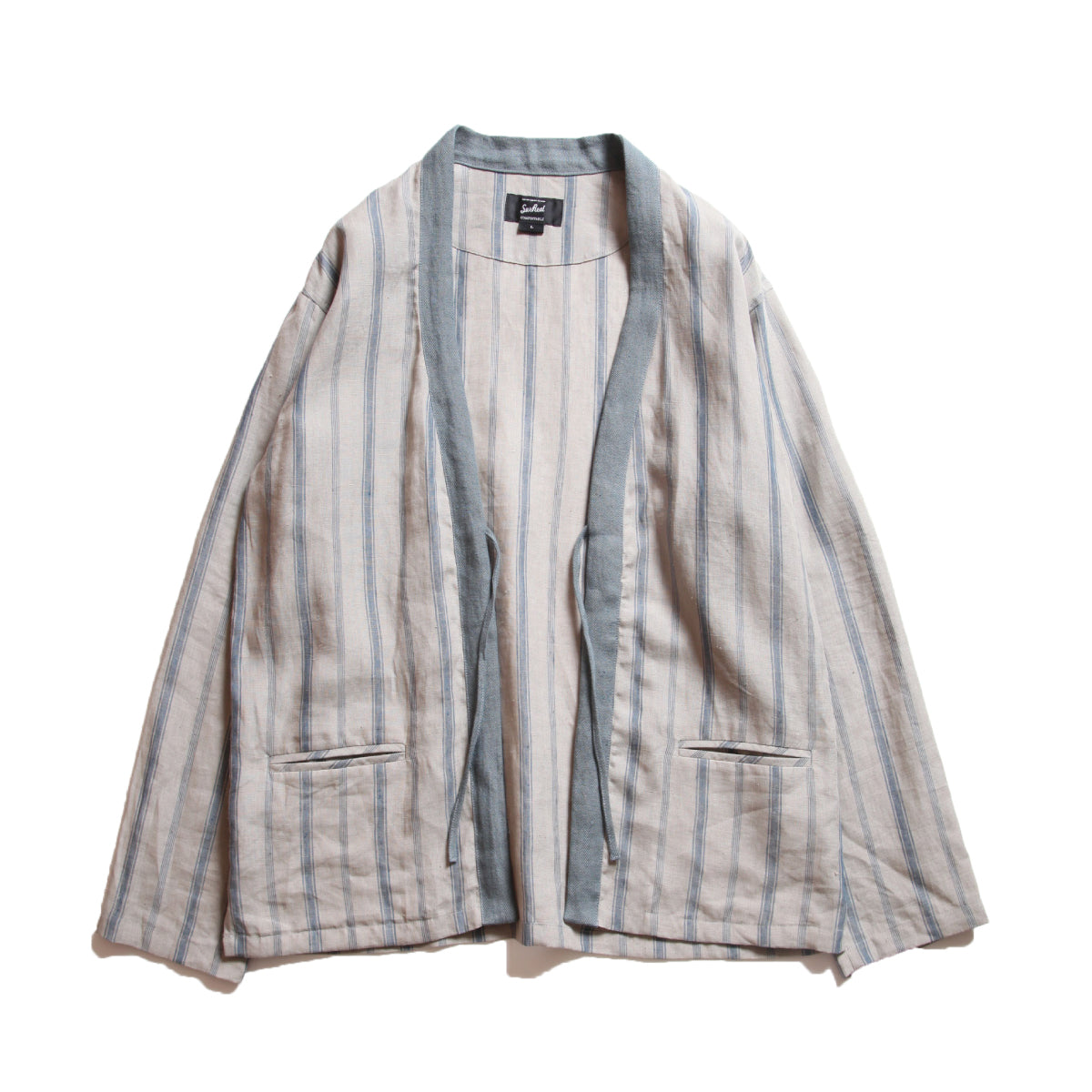 "Ryan_Striped Linen ""Happi"""