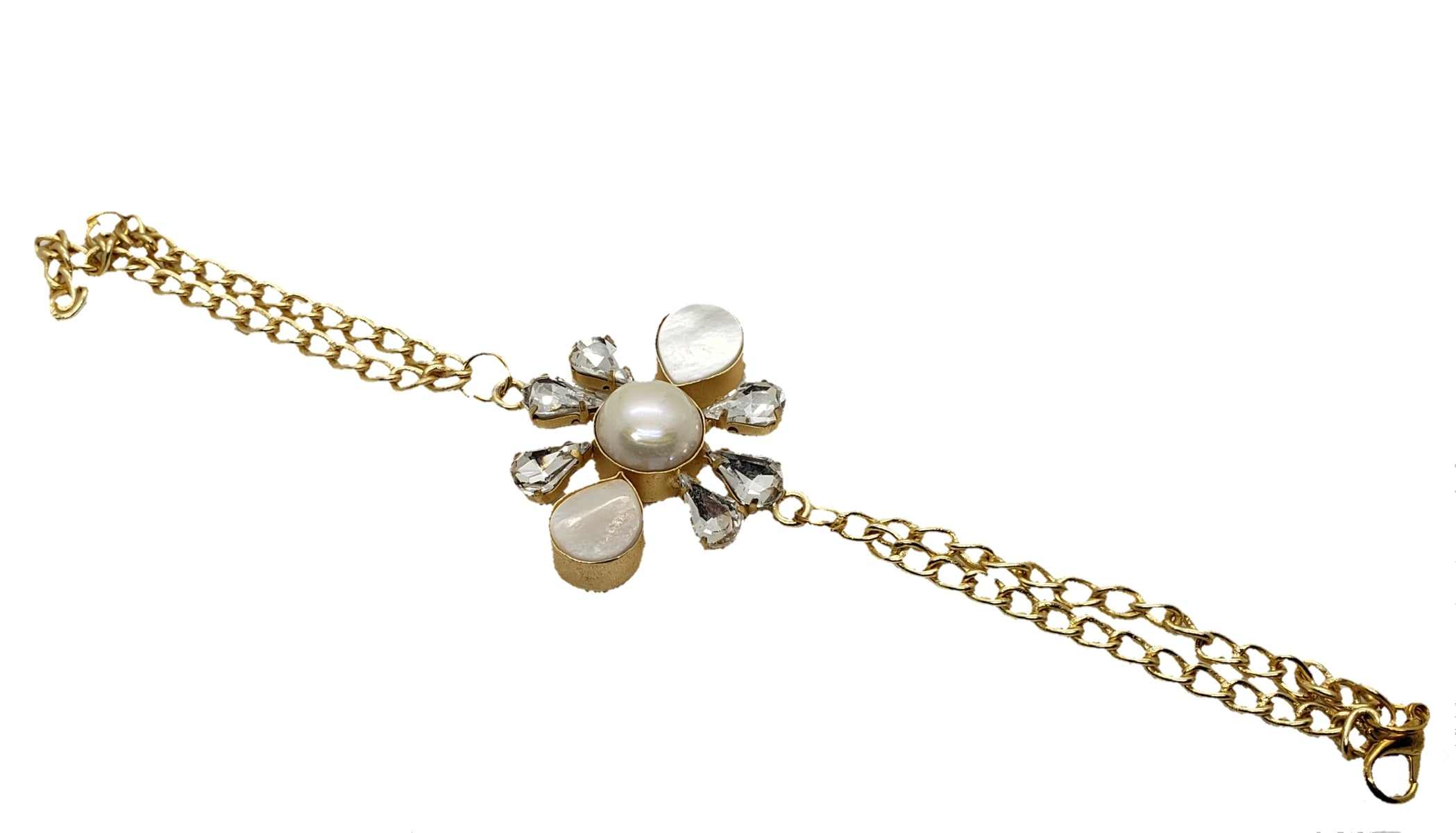 Clustered Glass stone Bracelet - The Bauble Shop