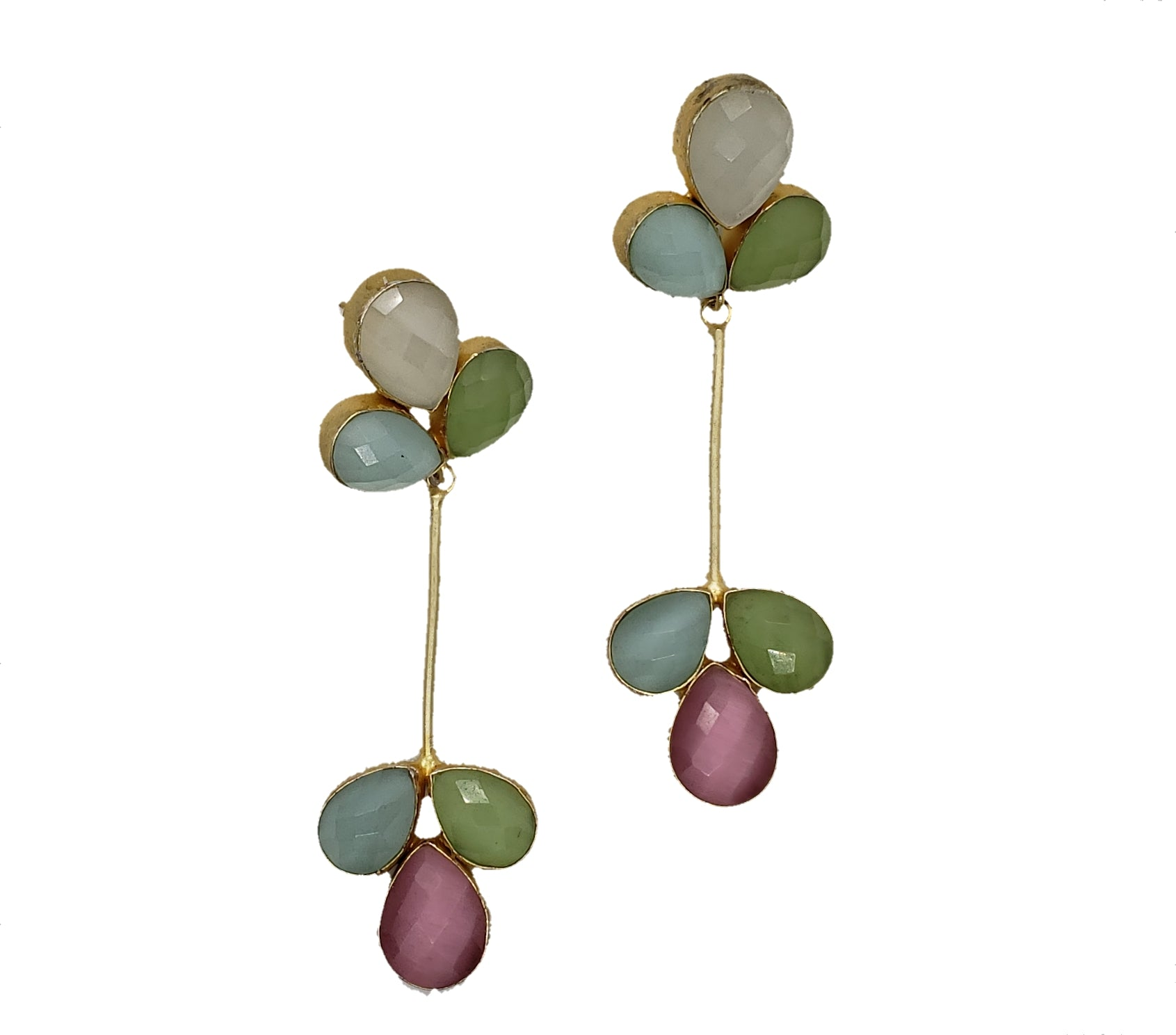 Pastel Tear-Drop Earrings - The Bauble Shop