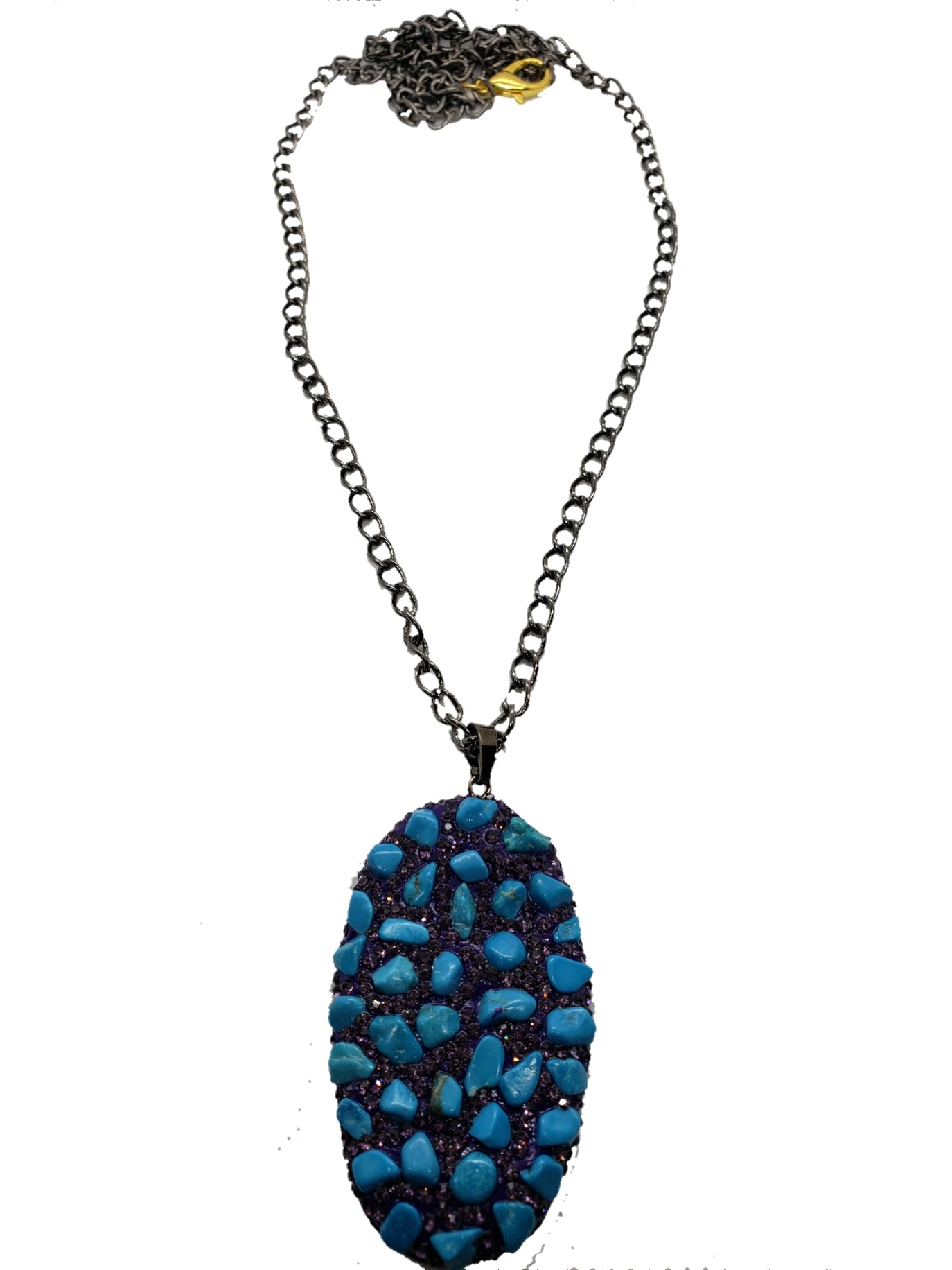 Rough Blue-green Stone Necklace - The Bauble Shop
