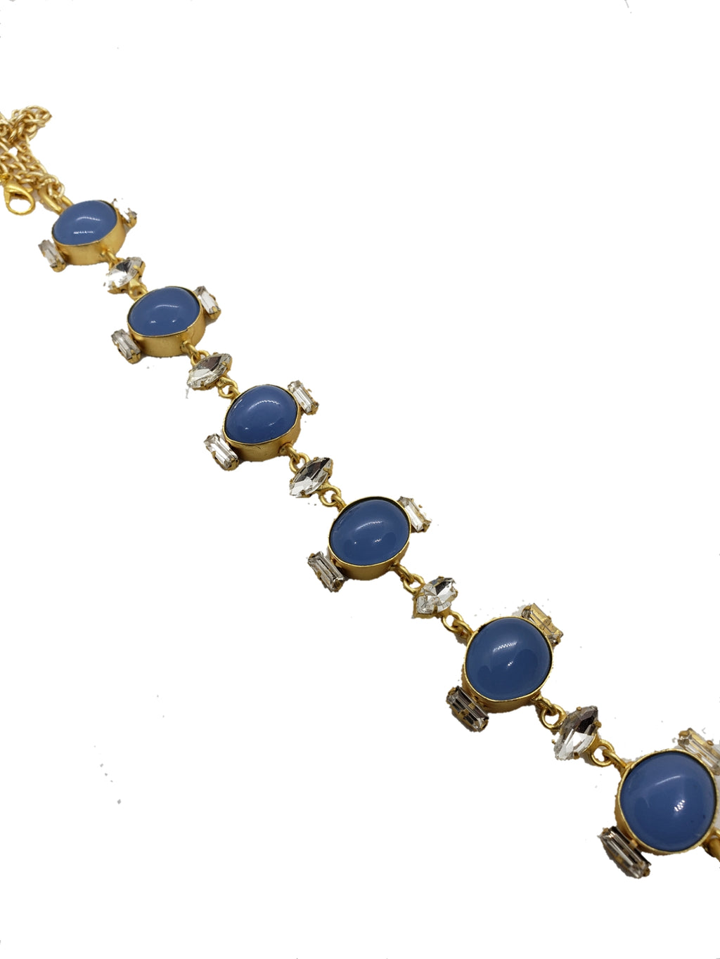 Indigo Glass Stone Choker - The Bauble Shop
