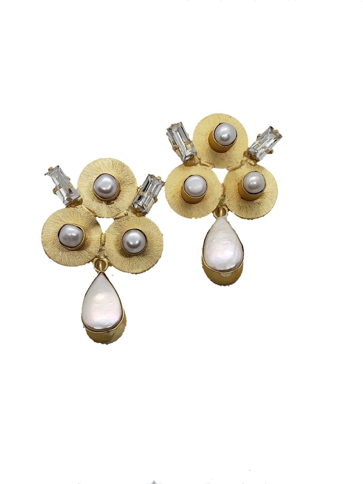Gold plated Pearl Drop Earrings - The Bauble Shop