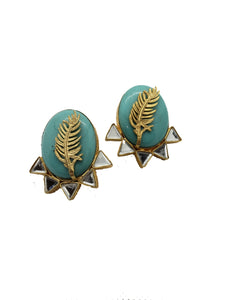 Turquoise Over Sized Stud Earrings - The Bauble Shop