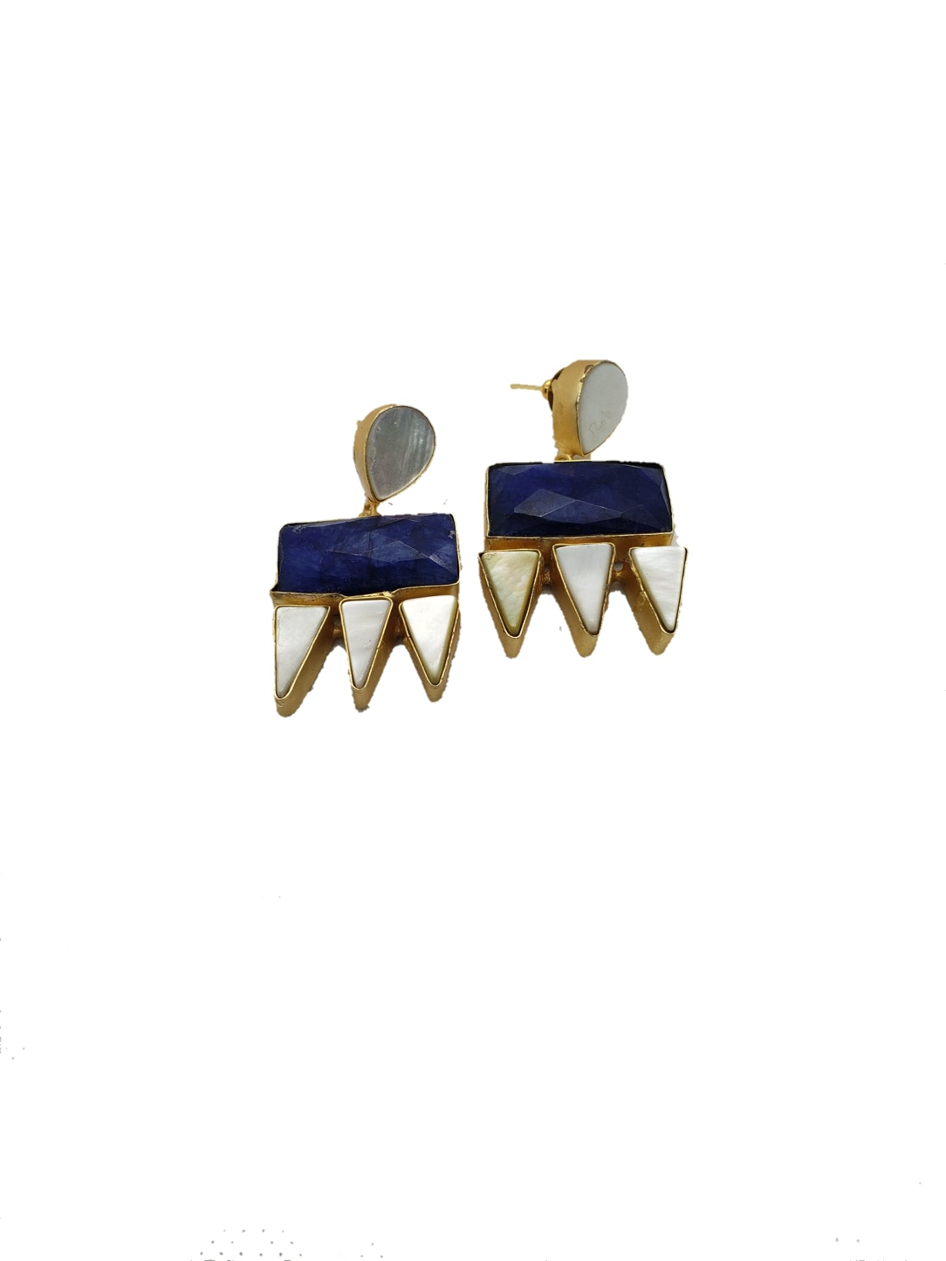 Royal Blue Stone Drop Earrings - The Bauble Shop
