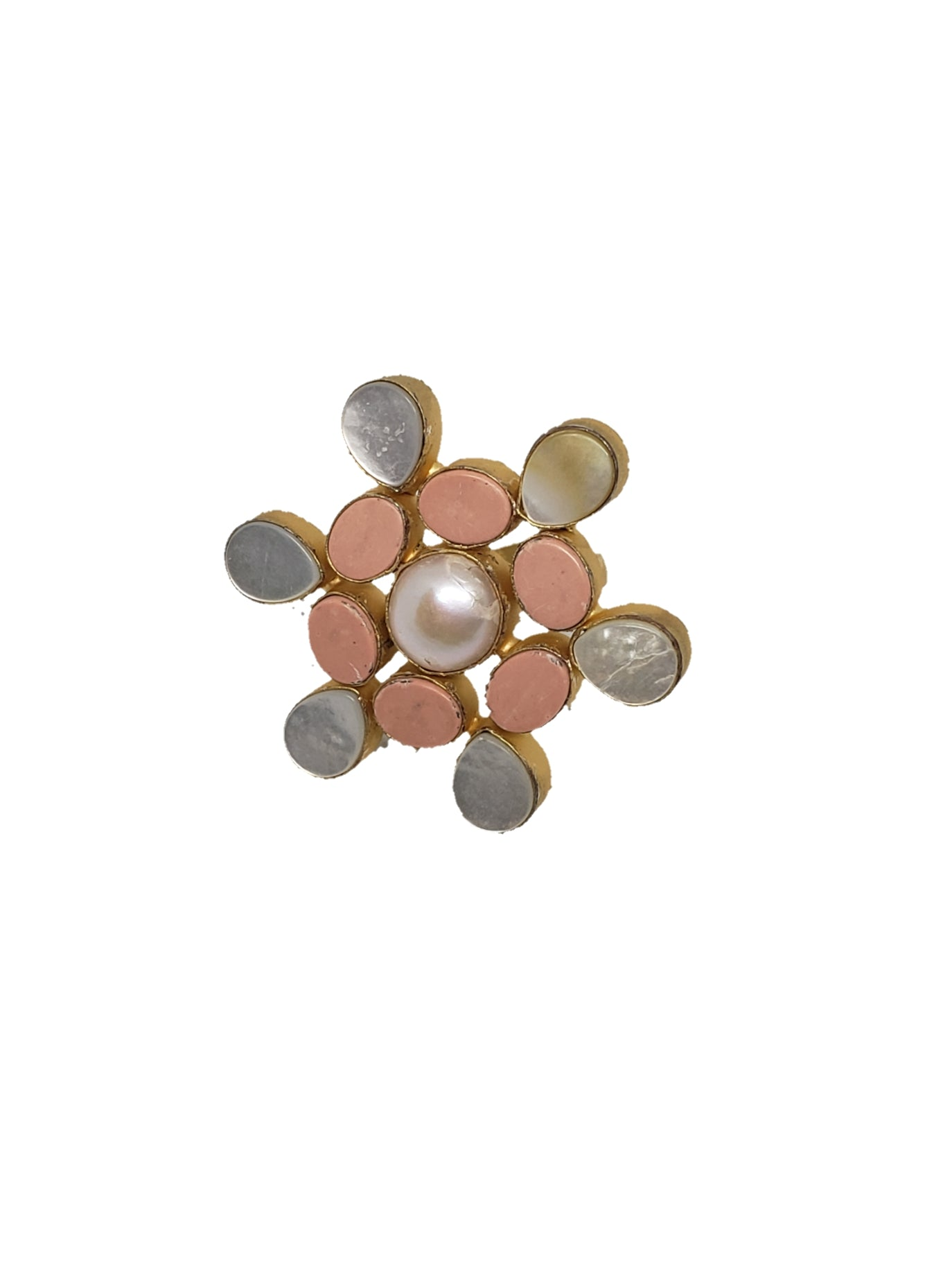 Coral Stone Ring - The Bauble Shop