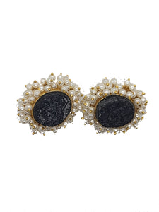 Obsidian Stud Earring - The Bauble Shop