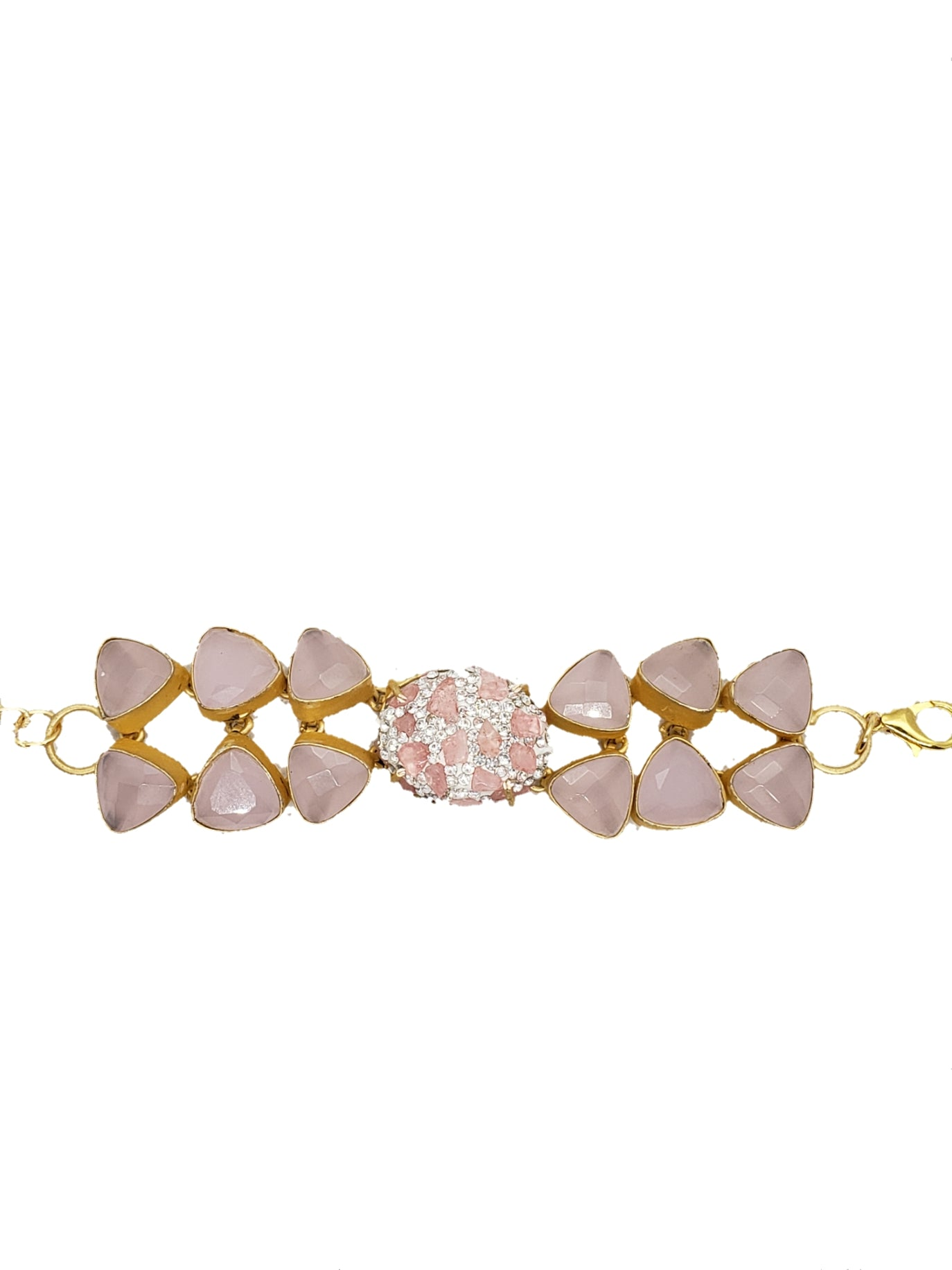 Rose Quartz and Pink Rough Stone Bracelet - The Bauble Shop