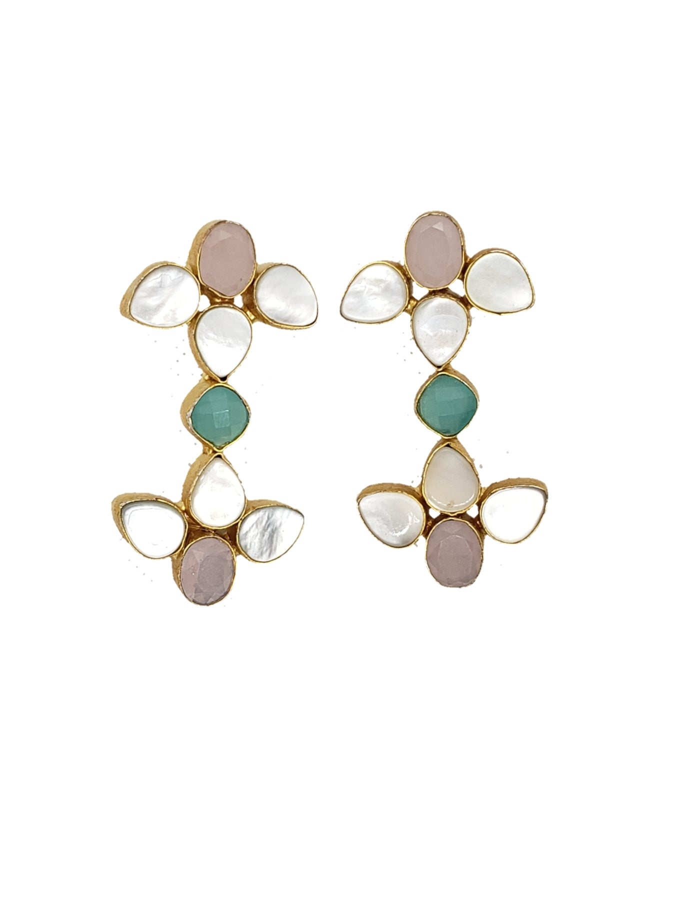 Chalcedony and Mother of Pearl Drop Earrings - The Bauble Shop