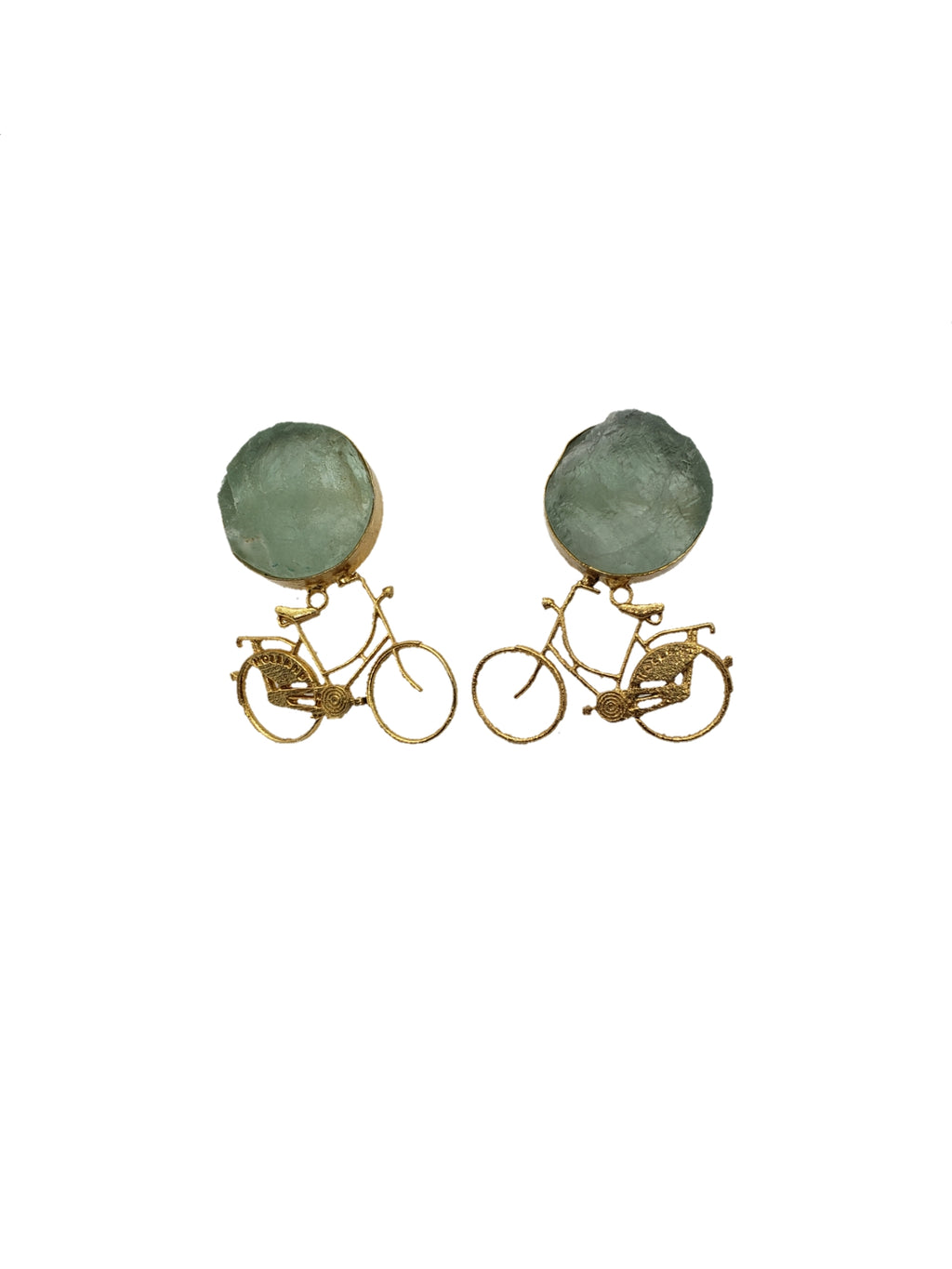 Fluorite Bike Stud Earrings - The Bauble Shop