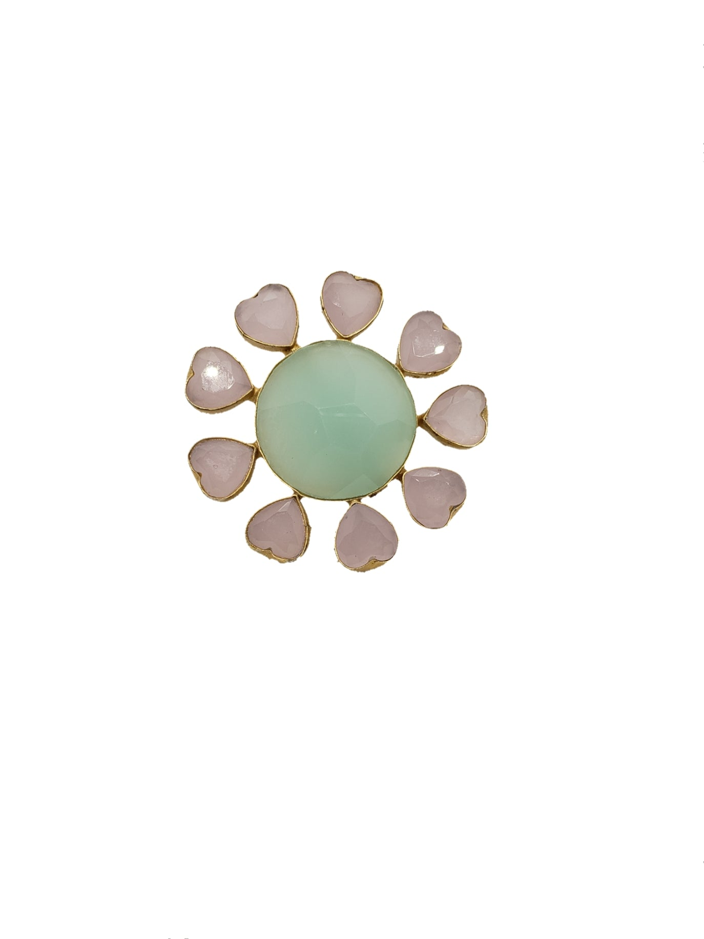 Rose Quartz and Chalcedony Ring - The Bauble Shop