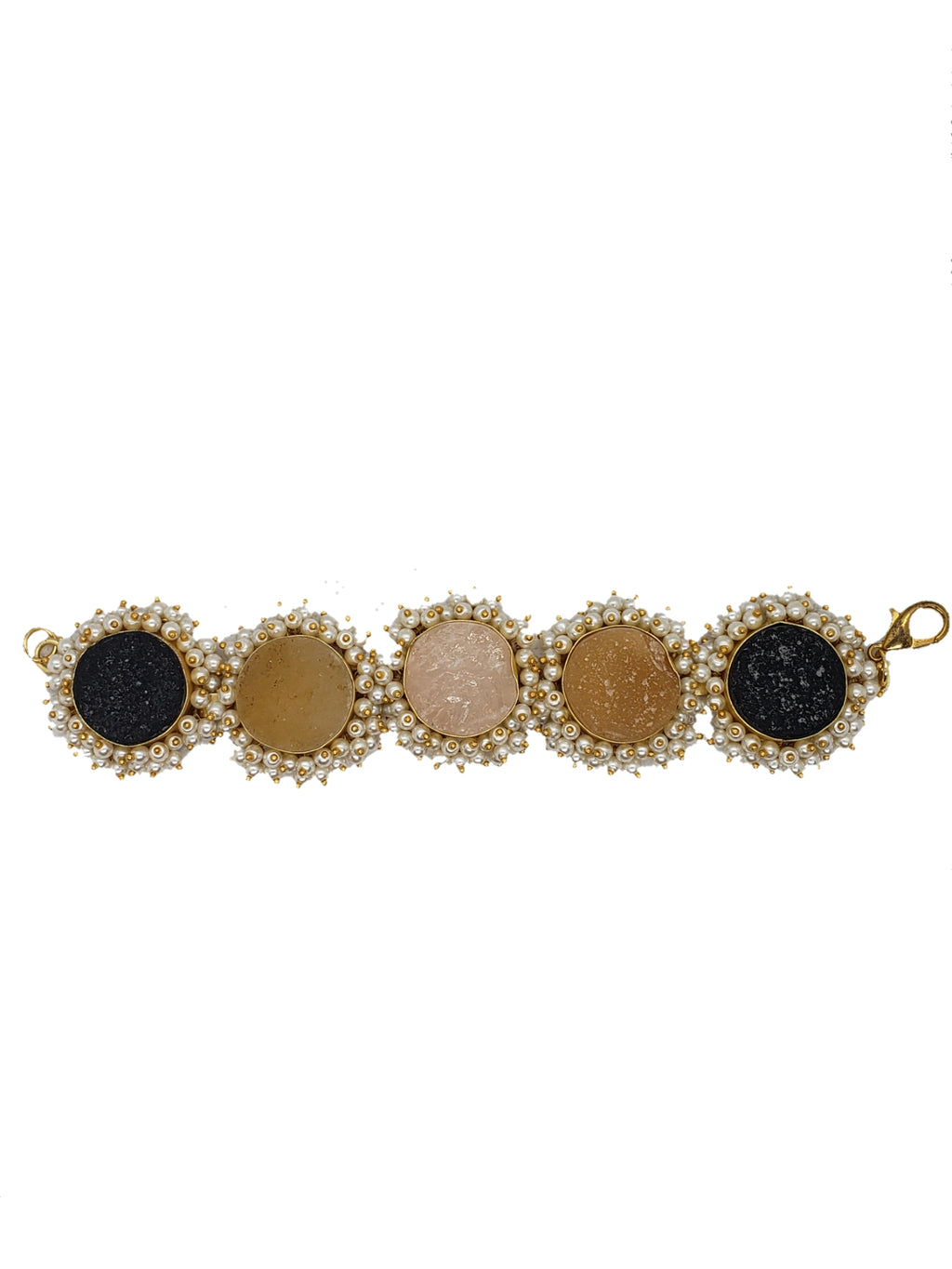 Obsidian and Citrine Bracelet - The Bauble Shop