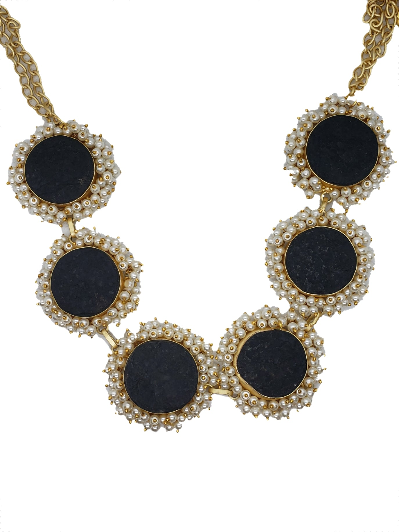Obsidian Stone Necklace - The Bauble Shop