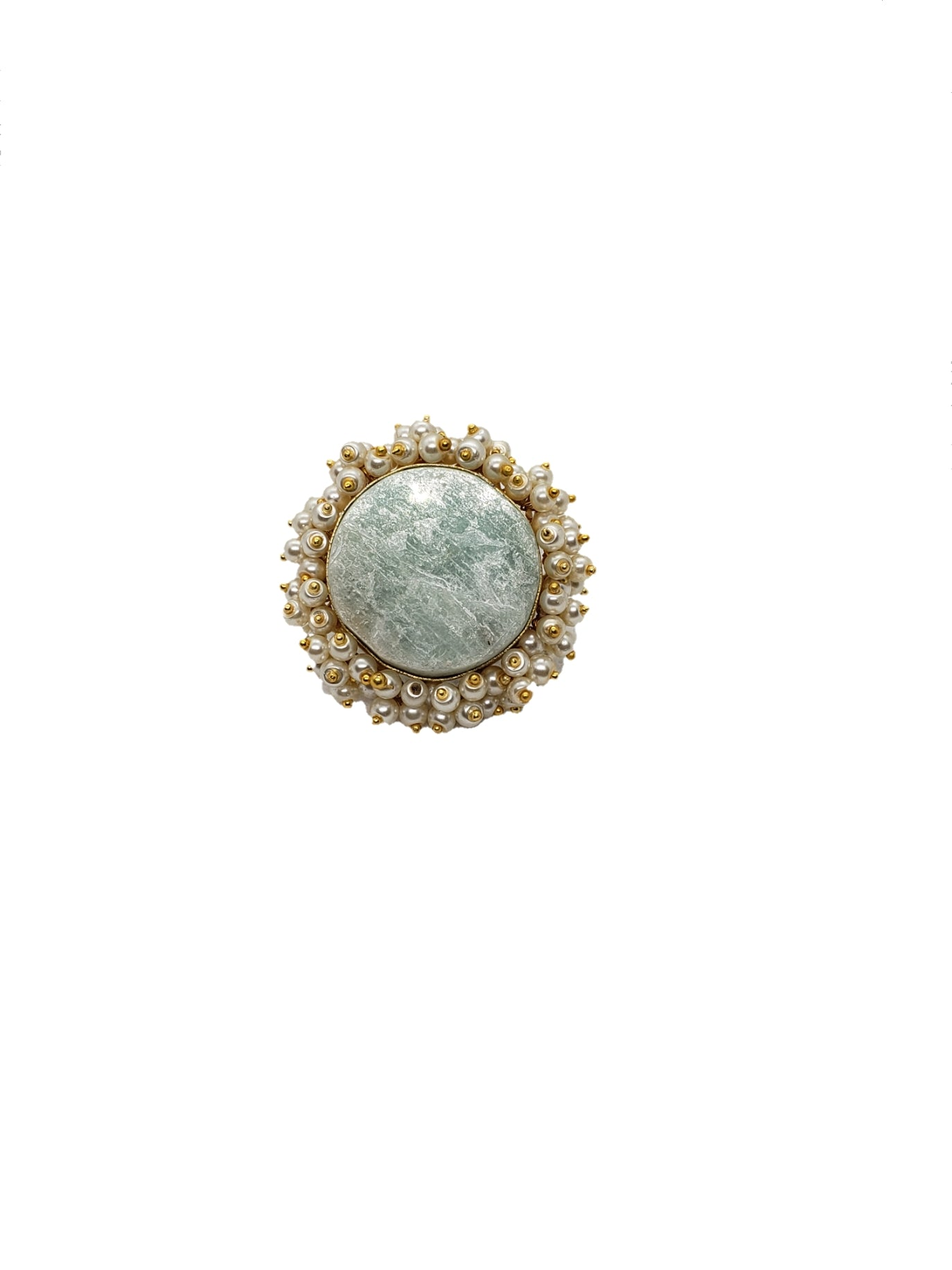 Amazonite Stone Ring - The Bauble Shop