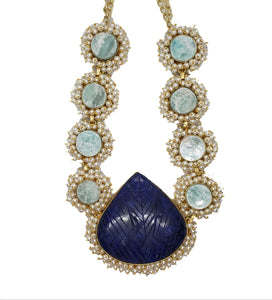 Lapis and Amazonite Necklace - The Bauble Shop