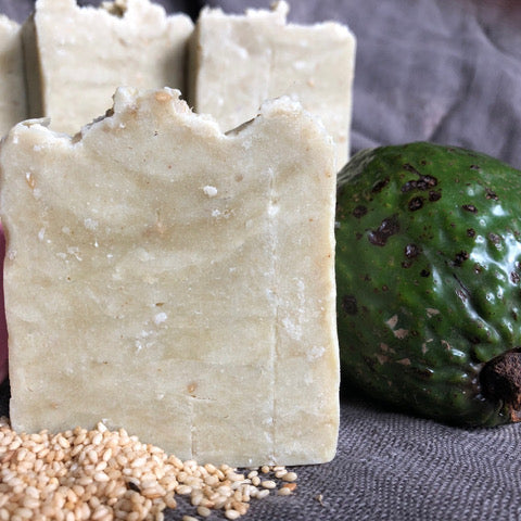 Load image into Gallery viewer, Fresh Avocado and Sesame Skin Conditioning Shower Bar