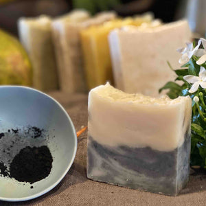 Charcoal and Jasmine Body and Face Bar