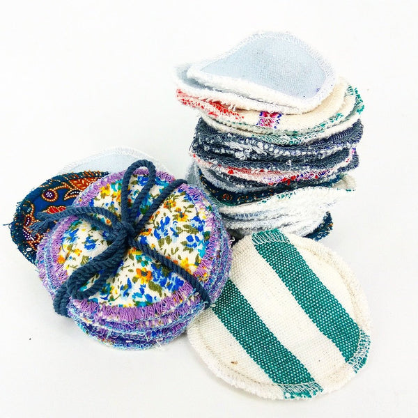reusable facial rounds colours stripes stack