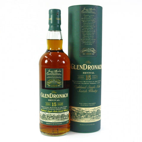Glendronach 15 ans Oloroso Pre-2015 single malt scotch whisky