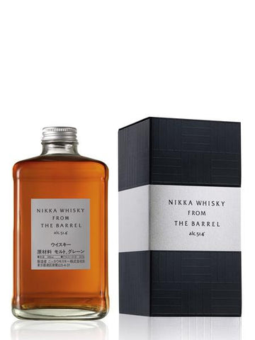 a 50 centiliters bottle of nikka from the barrel japanese whisky