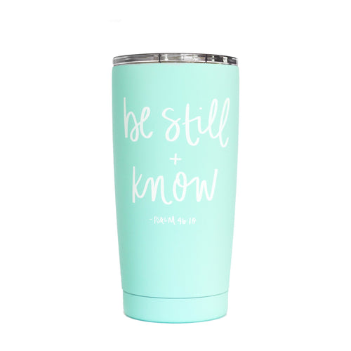 Be Still And Know Psalm 46:10 Scripture Metal Travel Mug