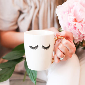 Bone China Coffee Mug | Eyelashes