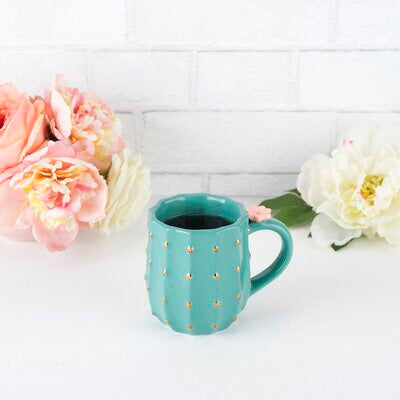 Blooming Cactus Ceramic Mug
