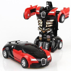 Transformation Robot Toy Car Anime Action Figure Toys ABS Plastic Collision Transforming Model Gift for Children