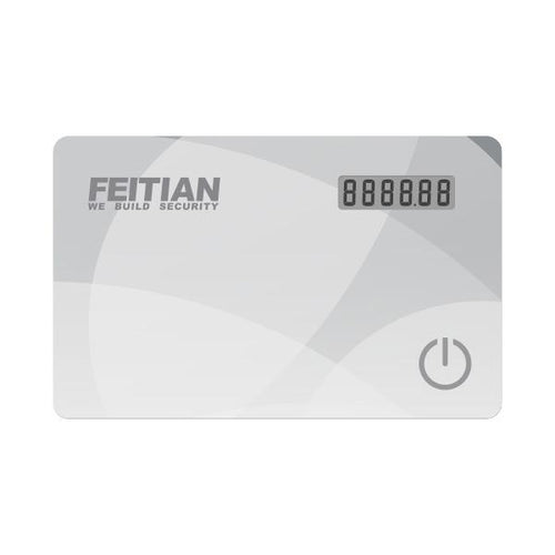 FEITIAN VC-100E OTP Event-Based 2FA Display Card Token (6 Digit) - FEITIAN Technologies US