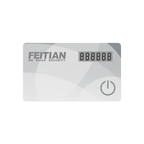 Feitian MiniVC-200E OTP Time-Based 2FA Display Card Token