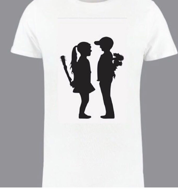 Banksy kids play tee
