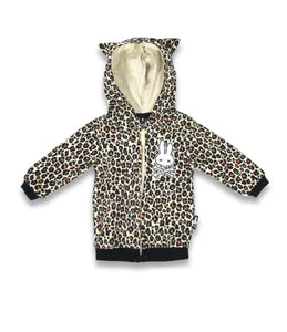 Sixbunnies Baby and children's LEO hoodie with ears