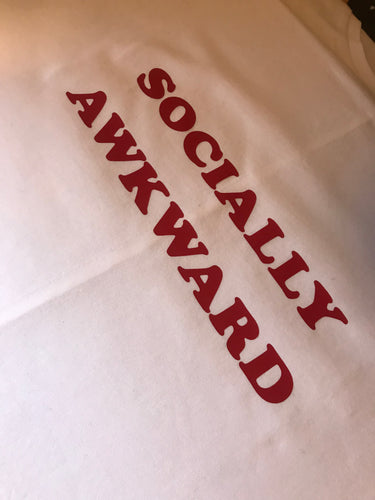 Official SWAG socially awkward longline tee