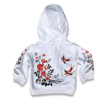 Load image into Gallery viewer, Six bunnies BIRDS AND ROSES hoodie