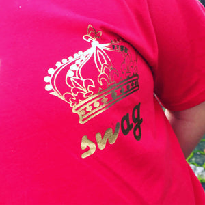 Official SWAG gold foil TEE adults and kids in all colours