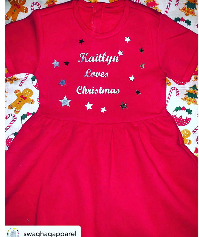 Fleece personalised dresses