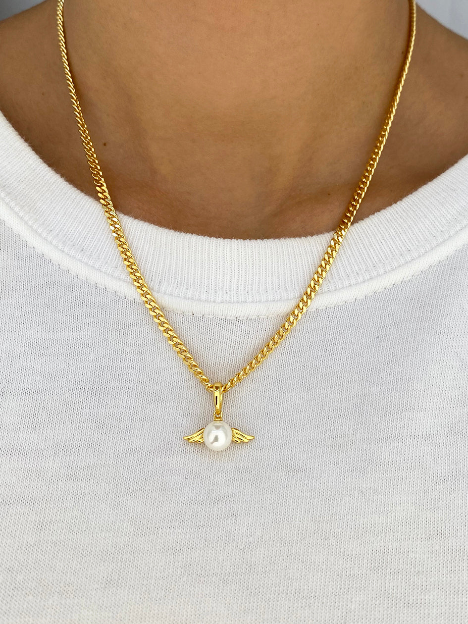 THE PEARLY ANGEL CHAIN GOLD