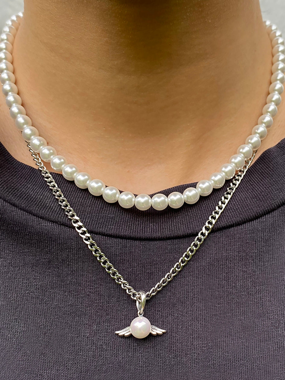 THE PEARLY ANGEL CHAIN SILVER