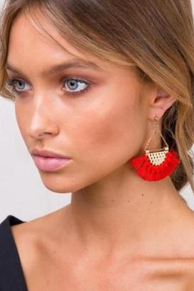 Fringing Dangle Earrings