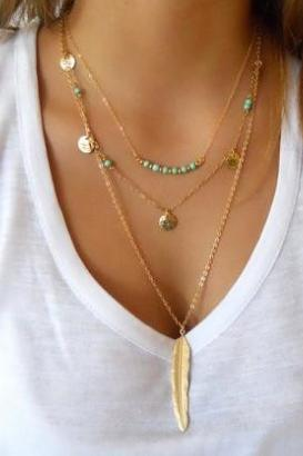 Coin Beads Necklaces