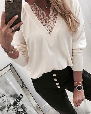 Blusa Laced Sweater