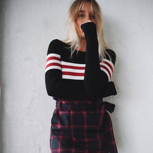 Stripe Panel Long Sleeve