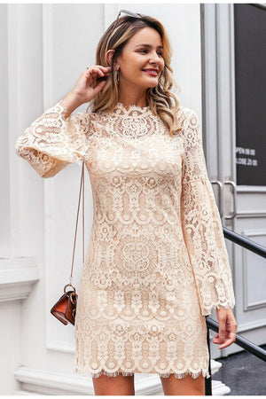 Myrcella Flared Lace Dress
