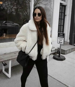 Soft Zipper Fur Jacket