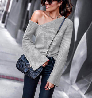 Shoulder Flaunting Sweater