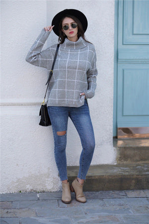 Plaid Fashion Sweater