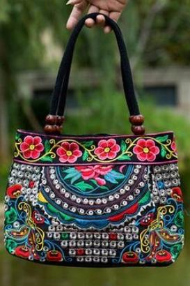 Floral Embroidered Lady Bag