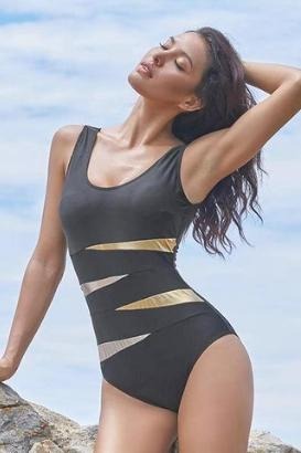 Bling Gold One Piece
