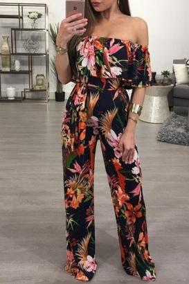 Hot  Bohemian Palm Jumpsuit