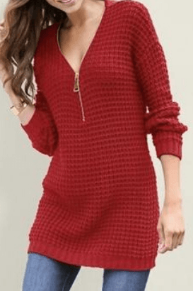 Arya Zipped Sweater