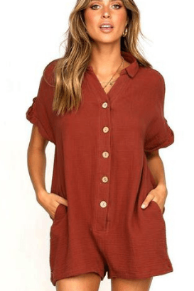 Serenity Button Rompers